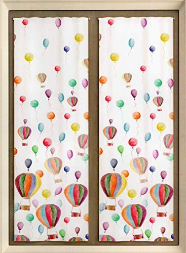 Mauro tende cameretta bambini - coppia tende per portafinestra confezionate (portafinestra 60x240 cm)