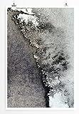 Eau Zone Home Bild - Abstraktes Graues Bild- Poster Fotodruck in höchster Qualität