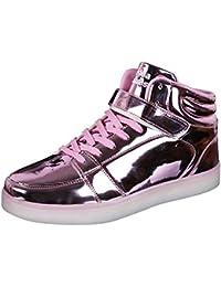 IDEA FRAMES 7 Farbe USB Aufladen LED Sport Schuhe für Unisex-Erwachsene
