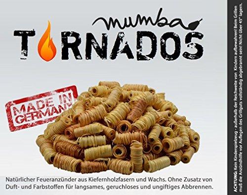 mumba 8kg Tornados natürliche Ofenanzünder aus Holzwolle in Wachs getränkt Grillanzünder Kaminanzünder Feueranzünder Anzündwürfel Holzwolleanzünder Anzündhilfe Holzanzünder Anzünder (8000 Gramm) -
