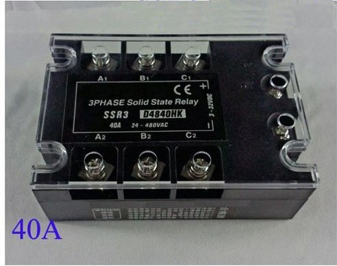 Gowe 0Pcs/lot Industrie 3 Phase AC Solid State Relay Elektronischer Schalter 40 A -
