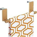 Support à torchons et serviettes pour placard, mDesign - 23 cm, Bambou
