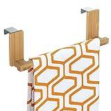 mDesign Handtuchhalter Schranktür - Farbe: Bambus