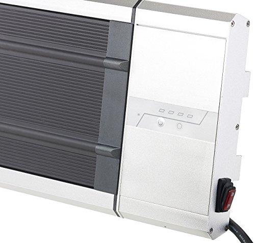 Semptec Infrarot-Strahler: IR-Dunkelheizstrahler RA-324, Timer & Fernbedienung, 2.400 Watt, IP55 (Dunkel-Infrarot-Heizstrahler) - 4