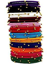 Silk Thread Multi Color Silk Thread Bangle Set For Women Set Of 48 Bangles