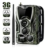 Wildlife Trail Camera 3G 1080P 16MP Wild Camera Piège photographique avec IP65 Caméra de chasse étanche 36 Pcs LED infrarouges à faible lueur 940nm, Vision nocturne infrarouge jusqu'à 20 m, Temps de d