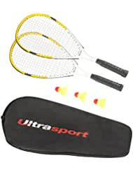 Ultrasport Speed - Set de bádminton, cordaje multifilamento con estable estructura de fibra