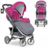 Poussette Canne Bebe pliable VIRAGE deluxe Aluminium Version, Couleur: Fuchsia