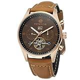 forsining Herren-Armbanduhr Automatik Day Kalender Automatik Lederband Marke Collection Armbanduhr fsg691m3r1