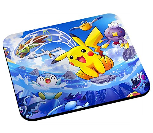 Tapis de souris pikachu sur la vague pokemon manga anime