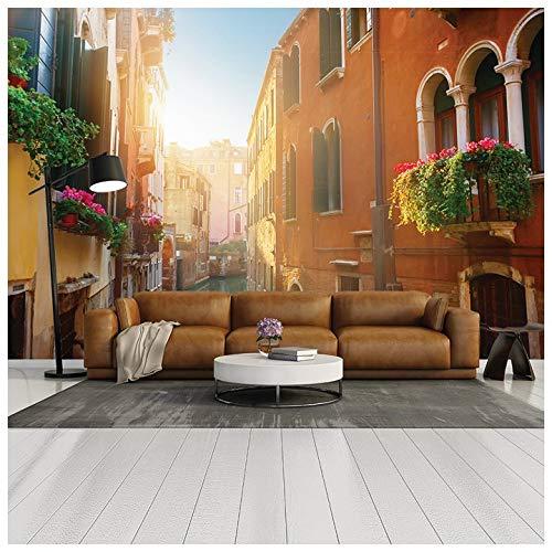 azutura Canale di Via Venezia Fotomurali Italia Carta Da Parati Camera da letto casa arredamento Disponibile in 8 misure Gigantesco Digitale