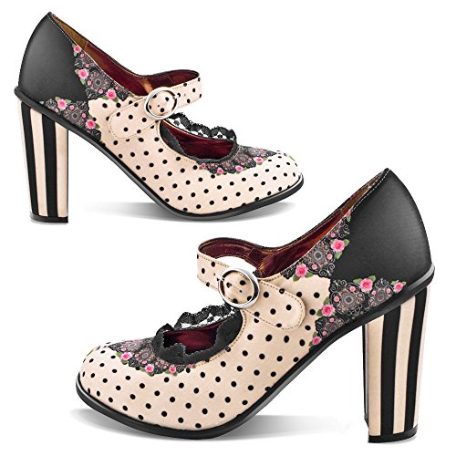 Hot Chocolate Design Chocolaticas Doris Scarpe Mary Jane tacco alto da donna US 11 multicolore