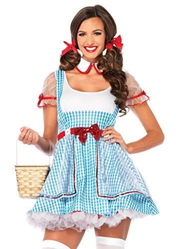 z Beauty Kostüm Set, 2-teilig, Größe M/L, blau/weiß (Adult Kostüme Dorothy Kleid)