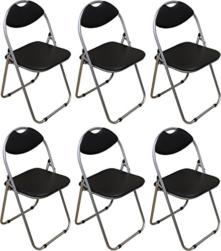 harbour-housewares-black-padded-folding-desk-chair-pack-of-6