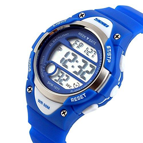 Kinder Outdoor Sports Fashion LED Licht Touch Bildschirm Armbanduhr Blau