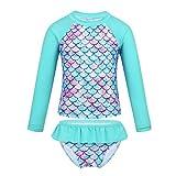MSemis Enfant Fille 2 Pieces Maillot de Bain Anti UV Ete Costume Sirène Short de...