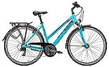Damen Fahrrad 28 Zoll türkis - Pegasus Piazza Citybike - Shimano Kettenschaltung, STVZO Beleuchtung