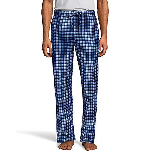 Hanes Mens ComfortSoft® Cotton Printed Lounge Pants (01000) -Blue/Navy -5XL -