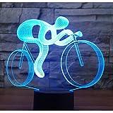 3D LED Nachtlicht 3D Led Nachtlicht Fahrt Fahrrad Mit 7 Farben Licht Für Heimtextilien Lampe Erstaunliche Visualisierung Optische Täuschung Ehrfürchtig