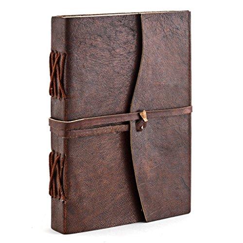 A.P. Donovan - Tagebuch Leder Notiz-Buch leer zum reinschreiben - Reisetagebuch - Diary - Braun, A6