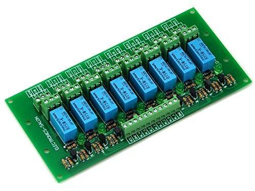 ELECTRONICS-SALON 8 tabla de la señal de módulo de relé DPDT, DC5V versión, para foto de Arduino 8051 AVR MCU.