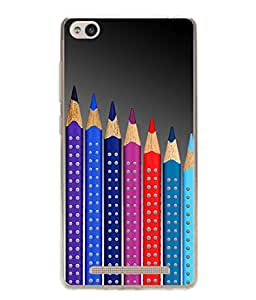 PrintVisa Colorful Pencils High Gloss Designer Back Case Cover for Xiaomi Redmi 3s