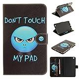 Skytar Samsung Galaxy Tab 3 8.0 Hülle - PU Leder Flip Cover Case Stand Hülle für Samsung Galaxy Tab 3 8.0 Zoll SM-T310 T311 T315 Tablet Schutzhülle Tasche Etui mit Karten-slot,Zorn