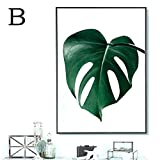 Wandbilder schlafzimmer Bloomma leinwand bild ohne Rahmen für zu Hause Moderne Dekoration Pflanze grünes Blatt Muster (B: 30 * 40cm)