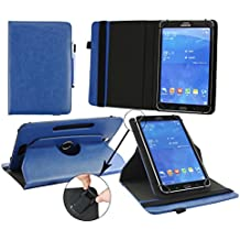 Emartbuy Woxter QX 109 Tableta PC 10.1 Pulgadas Universal ( 9 - 10 Pulgadas ) Dark Azul PU Cuero 360 Grados Giratorio Caso Cubrir Cover + Azul Lápiz Óptico