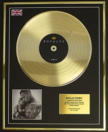 CHRIS BROWN/Goldene Schallplatte Record Limitierte Edition/ROYALTY