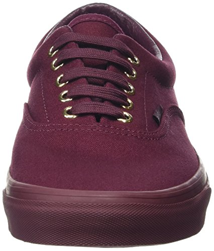 Vans Era, Baskets Basses mixte adulte Rouge (Gold Mono port royale)