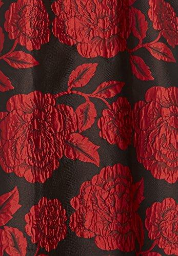 APART Fashion Kleid, Robe Femme Noir - Schwarz (schwarz-cranberry 0)