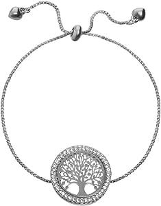 Frauen Charme Armband, glücklicher keltischer Baum des Lebens Armband für Mädchen Freundschafts Armband Armband justierbares Manschette Armband mit