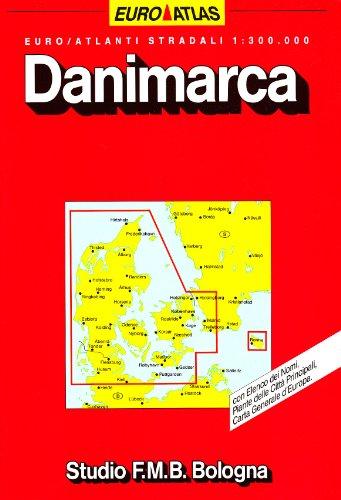 Danimarca. Euro Atlante 1:300.000 (Euro Atlas)