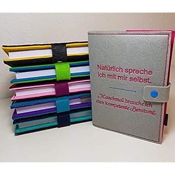 Kalenderhülle inklusive Kalender 2020 in A5 aus Filz individuell bestickt – personalisiert – Buchhülle – Notizbuch – Organizer