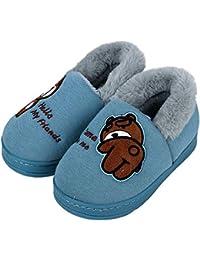 Amitafo Pantofole Unisex-Bambino Inverno Cotone Pantofole Home Morbido  Ragazzi Ragazze Antiscivolo e Calde Pelliccia 52598038003
