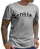 HARIZ  Herren T-Shirt Papa Collection 36 Designs Wählbar Grau Urkunde Papa26 Papa Evolution M