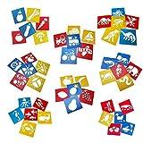 Tebery 48 Zeichenschablone Tiere Mitgebsel Kunststoff Malerei für Kinder