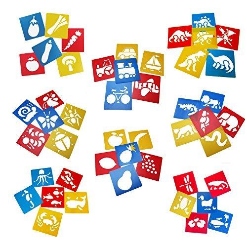 Tosnail 48pezzi plastica disegno pittura stencil modelli per bambini Crafts–lavabile modello per progetti scolastici–colori casuali