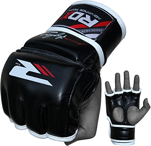 RDX-MMA-Gloves-Sparring-Martial-Arts-Cowhide-Leather-Grappling-Training-UFC-Cage-Fighting-Combat-Punching-Bag-Gel-Mitts