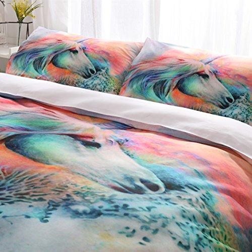 3D Bettbezug Set King Size, Weich 100% Mikrofaser, 3 Stück Bettwäsche Set Mit 2 Kissen Shams, Für Kinder, Jungen Und Männer Schlafzimmer Dekoration Modernen - Twin Männer Bettbezug