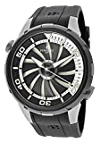 Perrelet Men's Turbine Diver Automatic Black Rubber Watch A1067/1