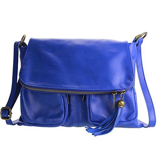 OLIVIA , Damen Umhängetasche camel blau