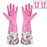 #8: HOKIPO® Reusable PVC Kitchen Gloves, Free Size, Forearm Length, 2 Pair.