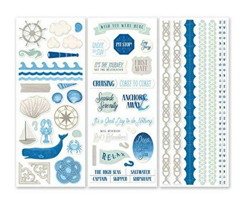 Creative Memories Scrapbook-Aufkleber, Motiv Tiefblaues Meer, 3 Stück -