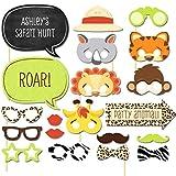 Cosanter 20 × Animali Mascherare Spara Puntelli Foto Accessori per Divertenti Immagini Divertente Coniglio Tigre Scimmia Occhiali Bocca Barba