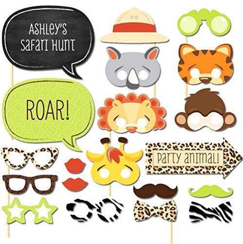 Hacoly 20 Stück Kinder Halloween Tiere Cosplay Masken Maske mit Tiermotiv Junge Mädchen Karneval Gesichtsmasken Gläser Fliege Foto Requisiten