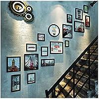 Yxsd Escalera Pared de Fotos Corredor Europeo Pequeña Pared Combinación Creativa Pared de Marco de Fotos