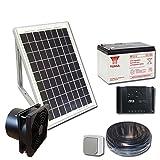 Kit complet de ventilation solaire 5W 12V - VMC - Extracteur 100m3/h