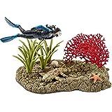 Schleich 42328 - Spielzeugfigur, Taucher im Korallenriff